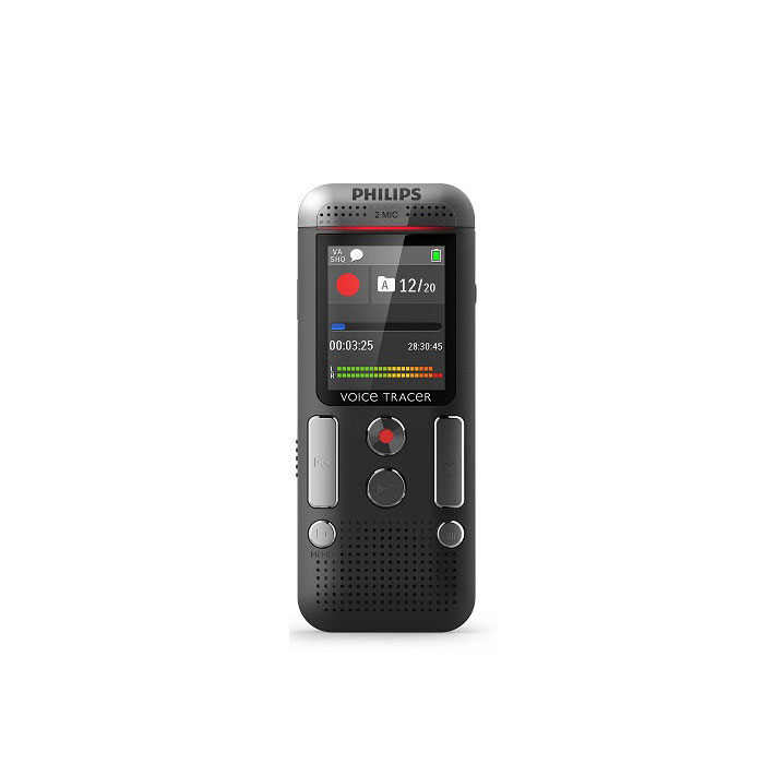 Philips Digital Voice Tracer DVT2510 with 2-Stereo Quality Microphones and Large LCD Color Display V