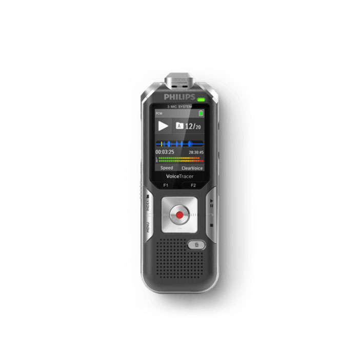 Philips DVT6010 Voice Tracer Digital Recorder with 3-Mic Auto Zoom Plus Black Voice Recorder